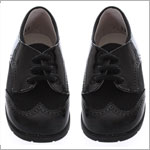 R: Pipiolo Boys Black Patent  & Suede Dress Shoes