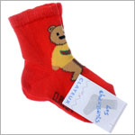 R: Clayeux Red Socks With Bear