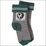 R: Miniman Green Socks With Black And White Stripes