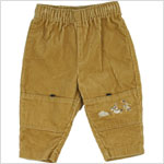 12m : Alphabet Gold Corduroy Pants