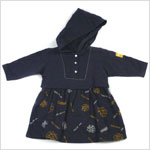 : Klim Baby's Stormy Waters Navy Print Dress w/ Hood