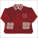 2y: Klim Baby's Corduroy Plaid Burgundy Button Jacket