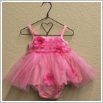 Rose Cage Pink Ballet Princess Bodysuit with Tulle Skirt *WOW*