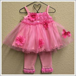 Rose Cage Pink Ballet Princess Sun Top and Pant Set *WOW*