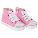 One Ruby Lane  Big Tiff High Top Pink Sneaker Shoes