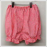 R: Allie Oops Red Check Bloomers