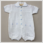 Rudin Needlecraft White Knit Sailboat Romper