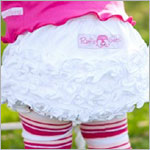 Ruffle Butts White Knit Ruffle Diaper Cover