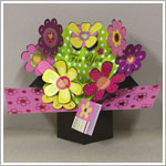 Russ *For You* 3D Flower Pop Up Card