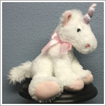 Russ 15 Inch White Sparkle Plush Unicorn