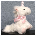 Russ 8 Inch White Sparkle Plush Unicorn