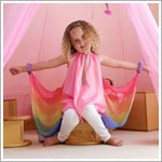 Sarah's Silks Pink/Rainbow Fairy Dress