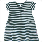 Scout Dark Teal & Light Teal Stripe Discover Dress w/ Pockets