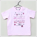 She's The One Pink *The Awesomest Big Sister Ever* S/S Shirt
