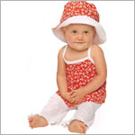 Snopea Cherries Galore Red Halter Top and White Pant Set