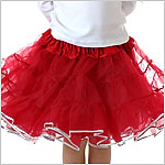 II: *Red w/ Silver Edge* Pettiskirt