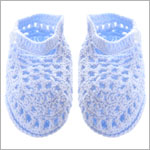 R: Sophie Dess Light Blue Knit Booties