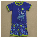Sozo 2pc Blue Jellyfish Shorts Jammies *GLOW IN THE DARK*