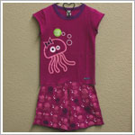 Sozo 2pc Fuchsia Jellyfish Shorts Jammies *GLOW IN THE DARK*