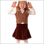 4y Sweet Potatoes Herringbone Hound Brown Trumpet Skirt