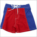 II: Sweet Potatoes Big Fish *Seaside* Red/Blue Board Shorts