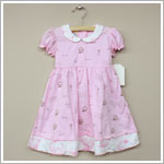 Sweet Potatoes *Bon Bon Pink* Pink And White S/S Dress