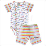 Sweet Potatoes *Frequent Flyer* Airplane Bodysuit & Stripe Short Set
