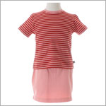 M (18m) II: Tea Pink And Red Shirt With Pink Skort set