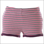 II: Tea Amethyst Stripe Shorts