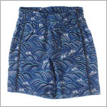 S (6m-12m) II: Tea Crashing Waves Long Shorts