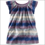 Tea Blue Lake Horizon Stripe Dress Dress