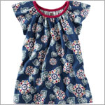 Tea Navy Pasar Floral Dress