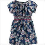 Tea Navy Pasar Vines Dress