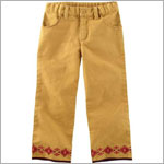 Small (6m12m) II: Tea Deep Gold Taquile Canvas Pants