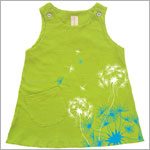 Tomat Organic Lime Green Dandelion Tank Dress