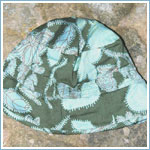 Medium (4T-5y) II: Trish Scully Blue Floral Shirred Baby Hat