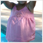 10y  Trish Scully Spring Parfait Pink Silk Tank