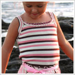 6/9m Trish Scully Spring Parfait Stripe Crochet Tank