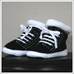 Trumpette *Johnny* Newborn Black/White Booties
