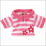 II: Ganz Webkinz Clothing - Pink Striped Polo Shirt
