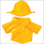 II: Ganz Webkinz Clothing - Yellow Raincoat & Hat