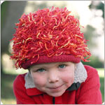 Zooni *Firecracker* Red Mop Top Hat