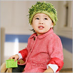 Zooni *Kate's Moss* Green Mop Top Hat