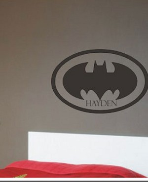 Z: Alphabet Garden Designs Wall Vinyl Batman Personalized Name Monogram
