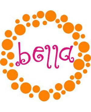 Z: Alphabet Garden Designs Wall Vinyl Bella's Dots Monogram