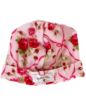 II: Baby Lulu Ribbon Rose Velour Beanie  *FINAL SALE*