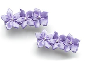 Blooming Bows Satin Flower Clippies