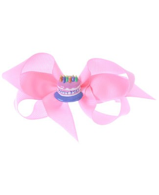 II: Bow Arts *Birthday* Pink Cake Bow