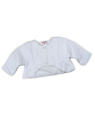 3m Catimini *Premiers Jours* White Cardigan Sweater