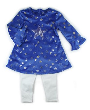 5y II: Chicken Noodle Twinkle Flare Sleeve Dress and Leggings Set
